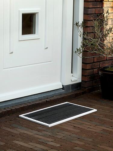 Outdoor-Fußmatte door-line 58 x 36 cm | weiß
