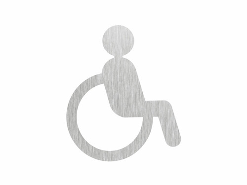 Toilettenschilder Handicap | Edelstahl
