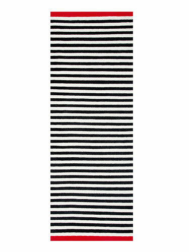 Läufer Rosemary 90 x 250 cm | schwarz/beige