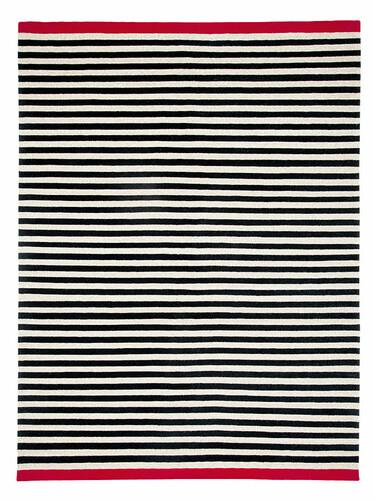 Teppich Rosemary 170 x 240 cm   schwarz/beige