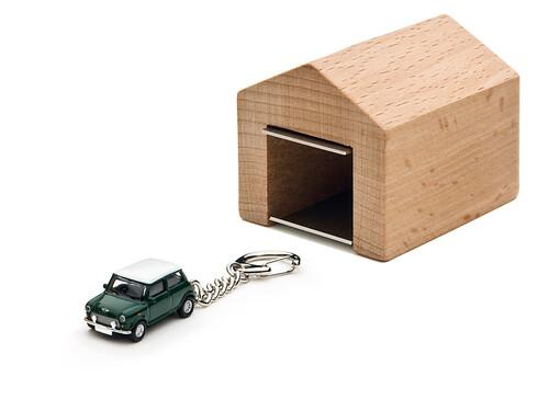 Schlüsselanhänger Mini Cooper mit Garage