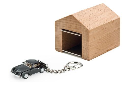 Schlüsselanhänger Porsche 356 A Coupé mit Garage