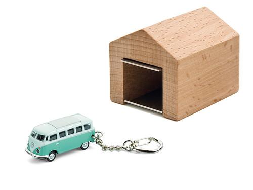 Schlüsselanhänger VW Bus T1 Samba mit Garage