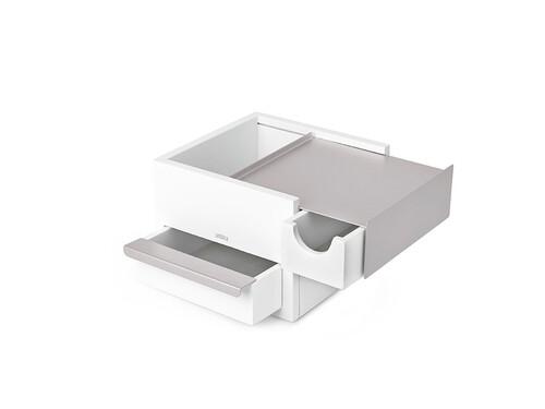 Schmuckbox Stowit Mini Stowit | weiß/vernickelt
