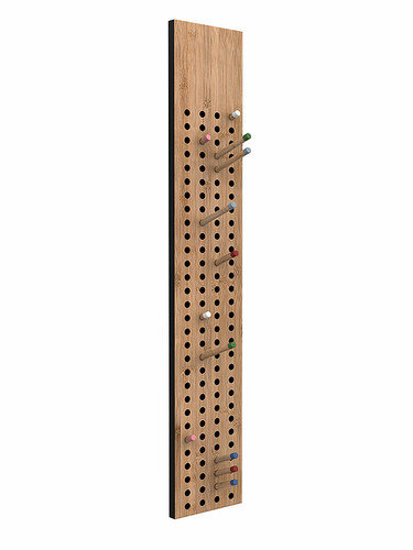 Garderobe Scoreboard vertikal | Bambus