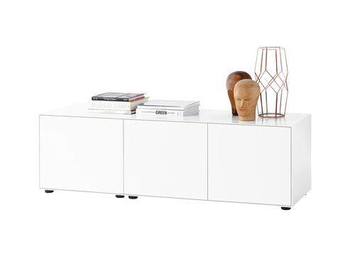 Sideboard Nex Pur H 52,5 cm, B 160 cm, 3 Türen | weiß