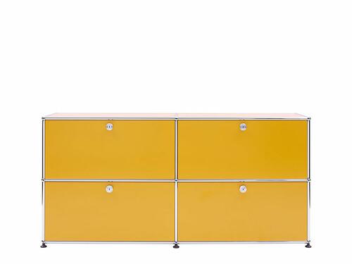 USM Sideboard 4 Klapptüren | goldgelb
