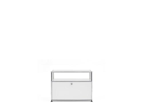 USM Sideboard 1-fach breit | 1 Klapptür, 1 Fach offen | reinweiß
