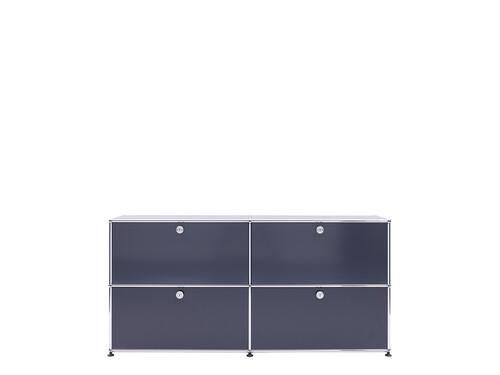 USM Sideboard 2-fach breit   4 Klapptüren   anthrazitgrau