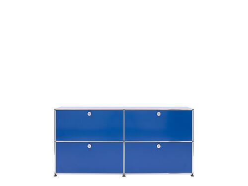 USM Sideboard 2-fach breit | 4 Klapptüren | enzianblau