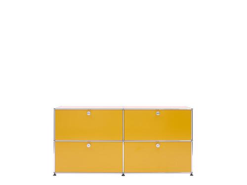 USM Sideboard 2-fach breit | 4 Klapptüren | goldgelb