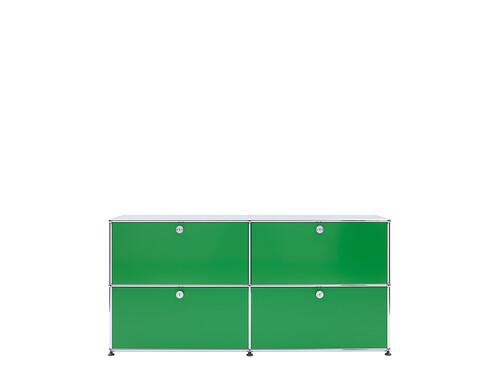 USM Sideboard 2-fach breit | 4 Klapptüren | grün