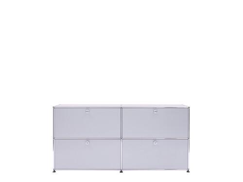 USM Sideboard 2-fach breit | 4 Klapptüren | mattsilber