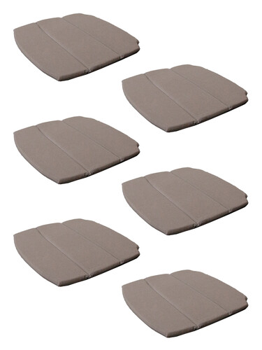 Sitzkissen (6 Stück) für Breeze Stapelstuhl