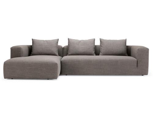 Sofa Kornum Sofa mit Chaise Lounge links | taupe