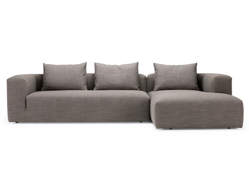 Sofa Kornum Sofa mit Chaise Lounge rechts | taupe