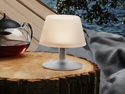 Solarlampe SunLight H 15 cm | Aluminium, Frostglas