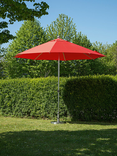 Sonnenschirm Milano Ø 300 cm | rot