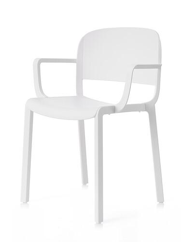 Stuhl Dome Armlehnstuhl | weiß
