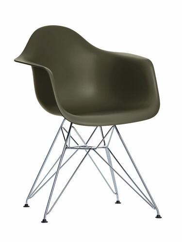Stuhl Eames Plastic Armchair DAR 1 Stück | basalt
