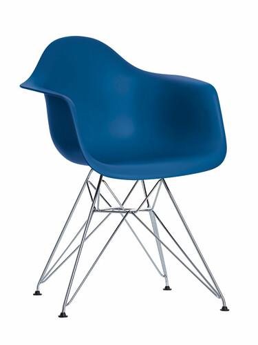 Stuhl Eames Plastic Armchair DAR 1 Stück | marineblau