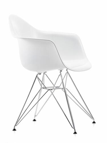 Stuhl Eames Plastic Armchair DAR 1 Stück | weiß