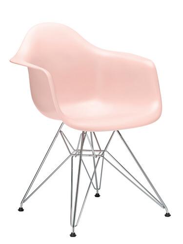 Stuhl Eames Plastic Armchair DAR ungepolstert   zartrosé