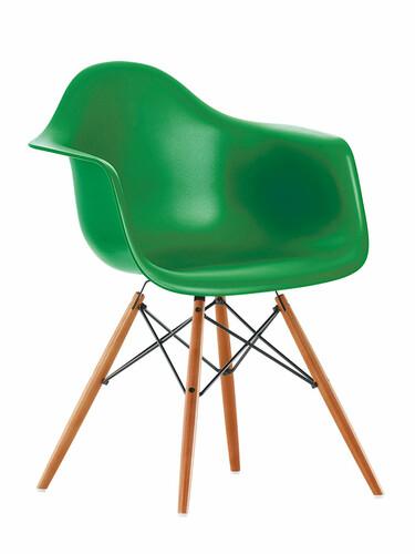 Stuhl Eames Plastic Armchair DAW 1 Stück | classic green