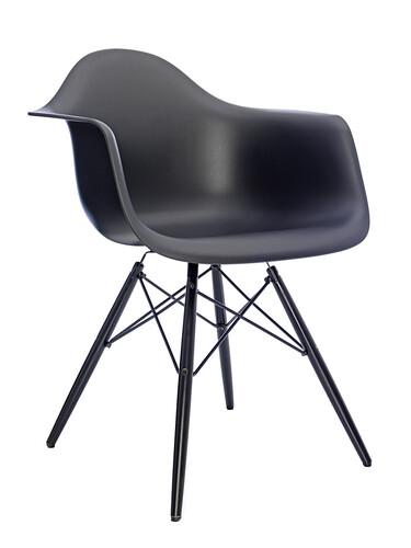 Stuhl Eames Plastic Armchair DAW 1 Stück   schwarz