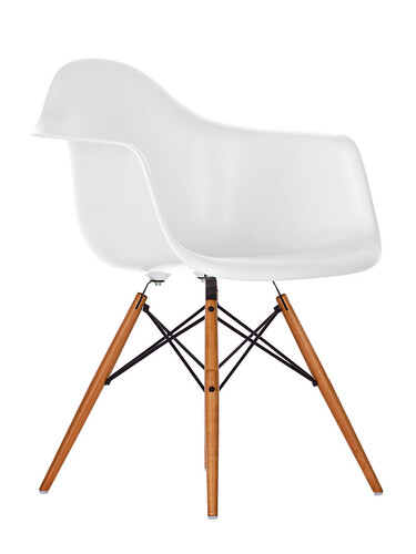 Stuhl Eames Plastic Armchair DAW 1 Stück   weiß