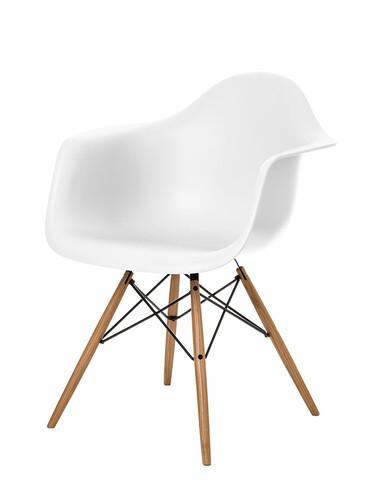Stuhl Eames Plastic Armchair DAW 1 Stück | weiß