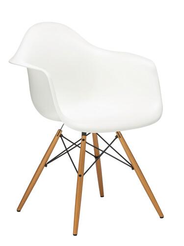 Stuhl Eames Plastic Armchair DAW Ahorn, natur | weiß