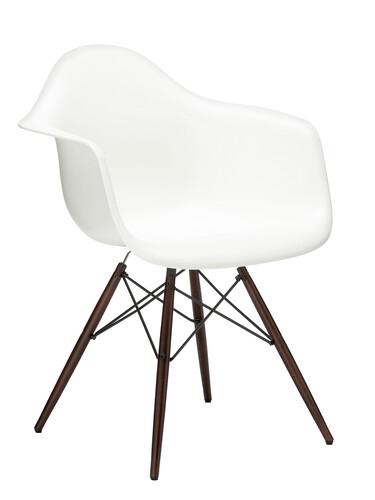 Stuhl Eames Plastic Armchair DAW Ahorn, nussbaumfarbig | weiß