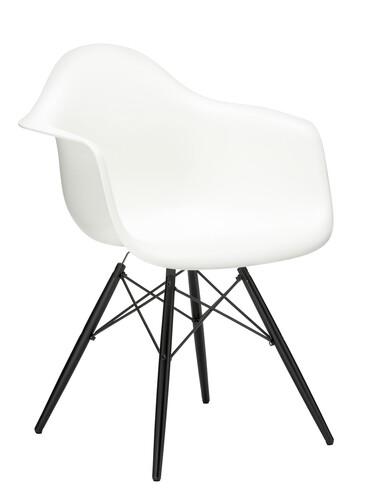 Stuhl Eames Plastic Armchair DAW Ahorn, schwarz   weiß