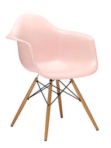 Stuhl Eames Plastic Armchair DAW 1 Stück | zartrosé