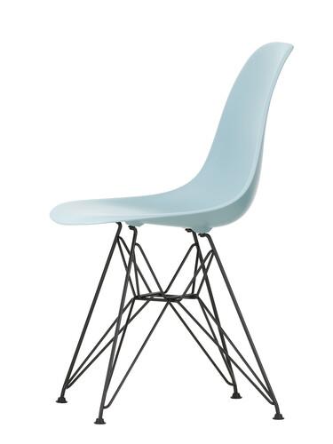 Stuhl Eames Plastic Side Chair DSR schwarz beschichtet | eisgrau