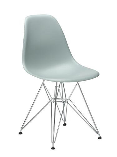 Stuhl Eames Plastic Side Chair DSR ungepolstert | hellgrau