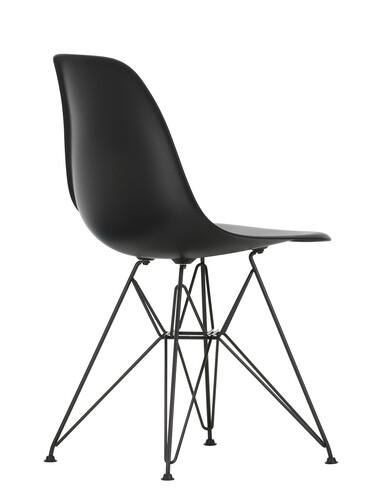 Stuhl Eames Plastic Side Chair DSR schwarz beschichtet | tiefschwarz