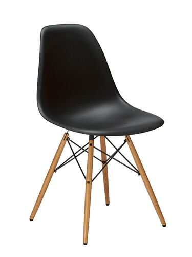 Stuhl Eames Plastic Side Chair DSW 1 Stück | tiefschwarz
