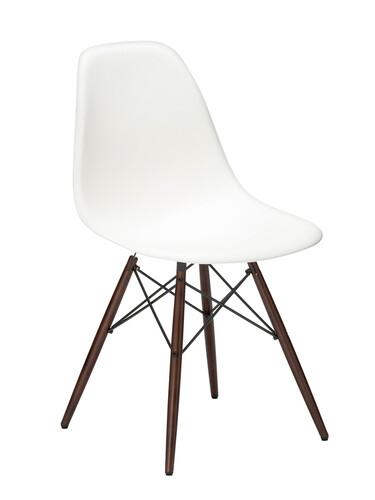 Stuhl Eames Plastic Side Chair DSW Ahorn, nussbaumfarbig | weiß