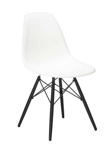 Stuhl Eames Plastic Side Chair DSW Ahorn, schwarz | weiß