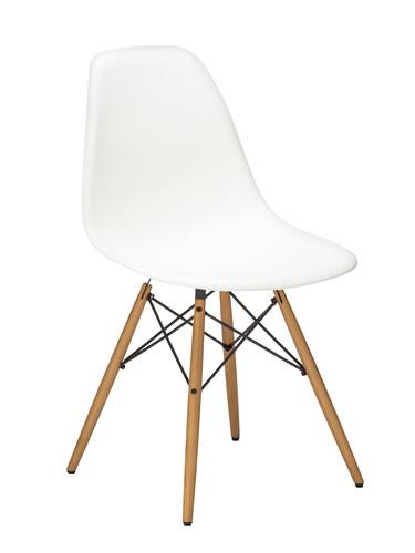 Stuhl Eames Plastic Side Chair DSW Esche, eichefarbig | weiß