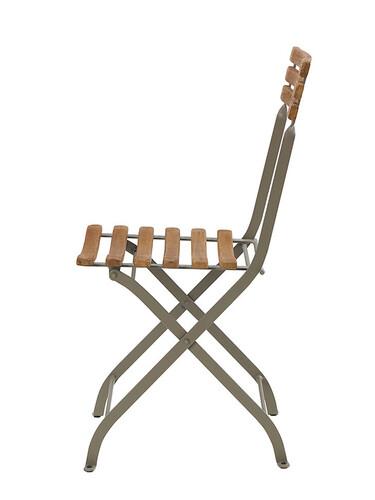 Stuhl Laren Klappstuhl | grau/Teak, natur