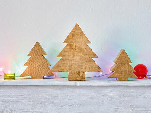 Weihnachtsdekoration Tanne Größe M (H 16 x B 16 cm)   Eiche