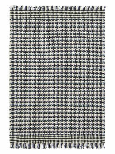Teppich Atelier Coco B 200 x L 280 cm | weiß/blau/schwarz kariert