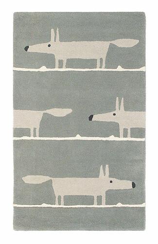 Teppich Scion Mr. Fox B 90 x L 150 cm | hellgrau/dunkelgrau