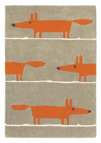 Teppich Scion Mr. Fox B 90 x L 150 cm   orange/beige