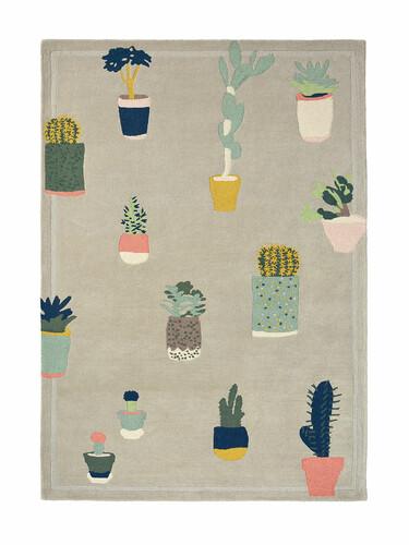 Teppich Ted Baker Cactus B 200 x L 280 cm | hellgrau/bunt