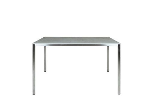 Tisch Delgado 120 cm   Edelstahl/Keramik, grau
