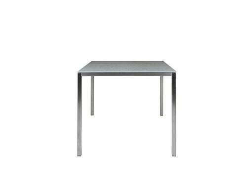 Tisch Delgado 80 cm | Edelstahl/Keramik, grau